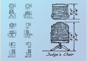 Chair Sketches - vector gratuit #156727