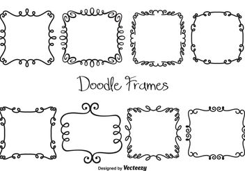 Vector Doodle Frames - Free vector #156737
