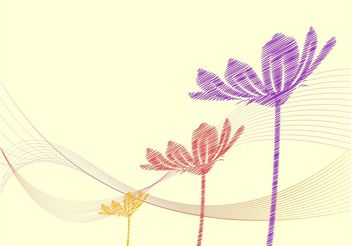 Abstract Floral Background - vector #156817 gratis