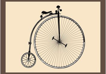 Retro Bike - vector gratuit #156857