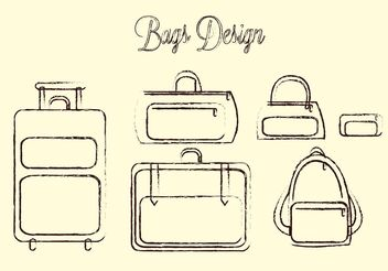 Travel Bag Vector Pack - vector gratuit #156867