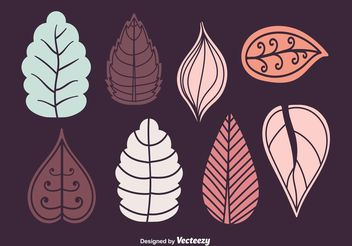 Autumn & Winter Leaves Vector Set - Free vector #156907