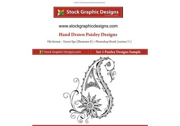 Vector Paisley Designs - Free vector #156927