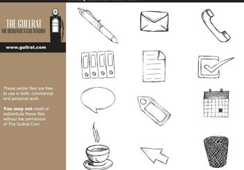 Sketchy Business Vector Pack - Free vector #156947