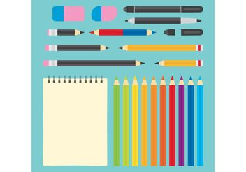 Art Supplies Vectors - vector gratuit #156997