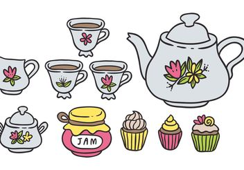 Free Colorful High Tea Vectors - Free vector #157177