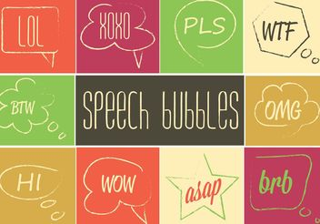 Free Speech Bubble Set - Kostenloses vector #157197