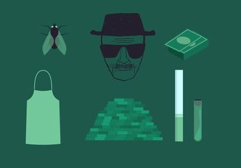 Breaking Bad Heisenberg Vector Set - Free vector #157247