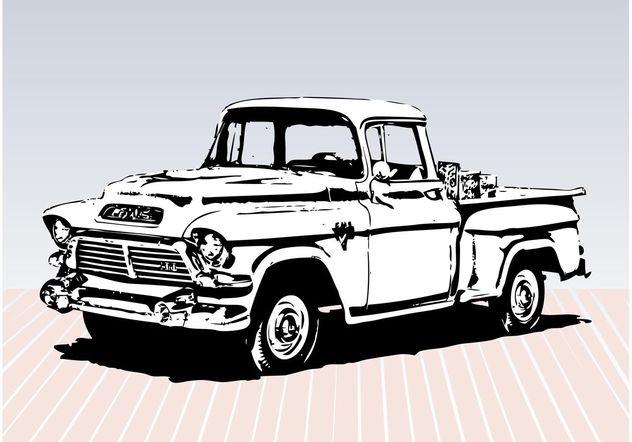 Descargar Vector Dibujo De Carro Viejo Gratis 157297  CannyPic