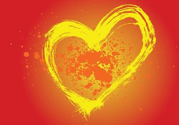 Heart Painting Vector - Free vector #157387