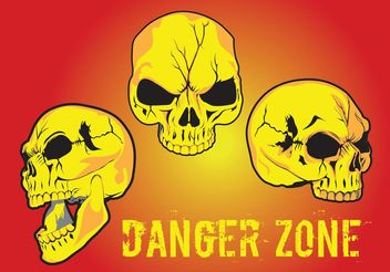Danger Zone Vector - vector gratuit #157407