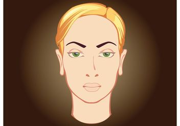 Woman Face - vector #157437 gratis