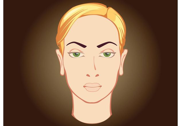 Woman Face - vector gratuit #157437