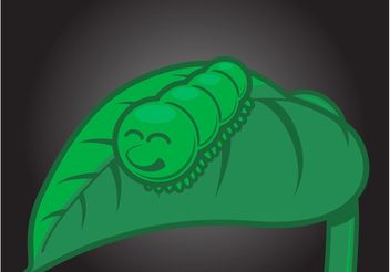 Happy Caterpillar - vector gratuit #157497