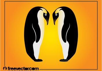 Emperor Penguins Graphics - vector gratuit #157657