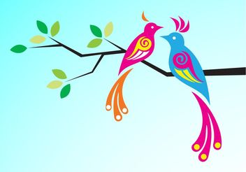 Exotic Birds - vector gratuit #157697