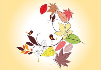 Vector Autumn Leaves - vector #157717 gratis