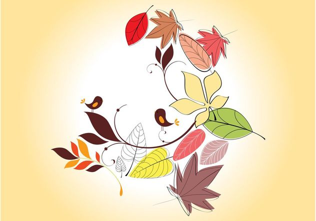Vector Autumn Leaves - Free vector #157717