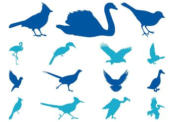 Bird Silhouettes Set - vector gratuit #157757
