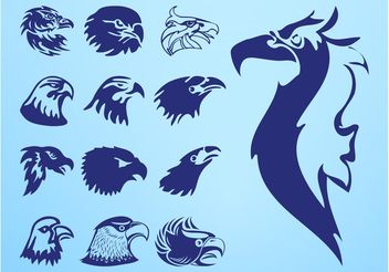 Eagle Heads Set - vector #157767 gratis