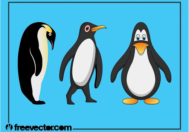 Penguins Graphics Set - Free vector #157787