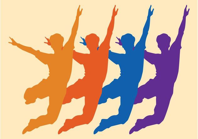 Jumping Crowd - Free vector #157857