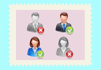 Man Woman Avatars - Free vector #157907
