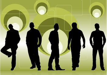 Club People Silhouettes - vector #157927 gratis