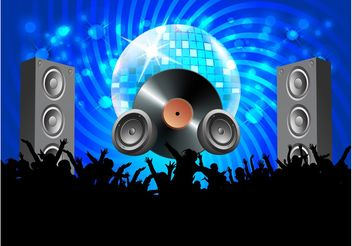 Vector Disco Party - vector gratuit #158167