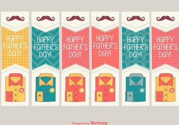 Happy Father's Day Labels - vector #158187 gratis