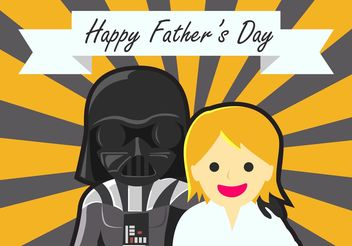 Star Wars Fathers Day Background - vector #158207 gratis