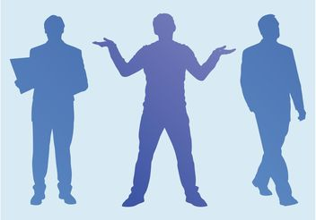 Men Silhouettes - Free vector #158257