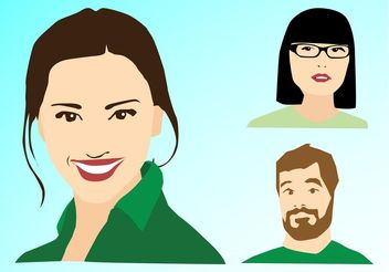 Vector Portraits - Free vector #158267