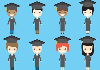 Graduate Vector Characters - Free vector #158337