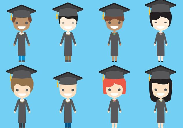 Graduate Vector Characters Free Vector Download 158337 | CannyPic