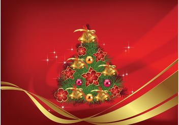 Christmas Tree Vector - vector gratuit #158347