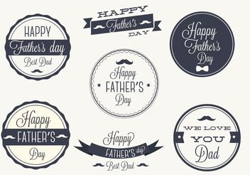Free Father's Day Vector Label Set - Kostenloses vector #158437