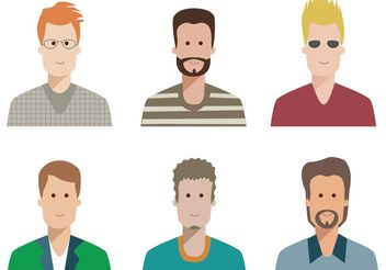 Cool Dudes Avatar - Free vector #158447