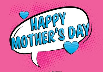 Comic Mother's Day Illustration - vector gratuit #158467