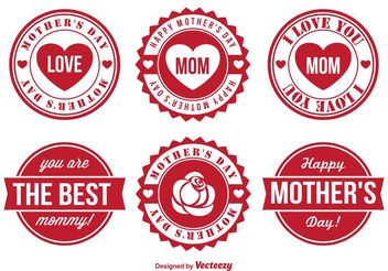 Mother's Day Vector Badge Set - Free vector #158487