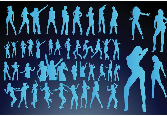 Dancing Girls - Free vector #158537