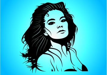 Bjork Vector Portrait - бесплатный vector #158577