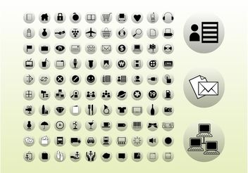 Icons Buttons Graphics - Kostenloses vector #158587