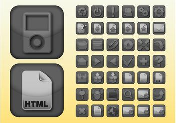 Apps Icons - vector gratuit #158597