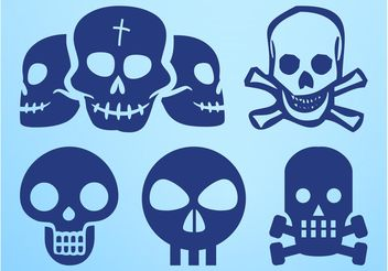 Skull Icons Graphics - Free vector #158697