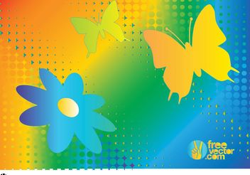 Rainbow Nature Vector Graphics - бесплатный vector #158747