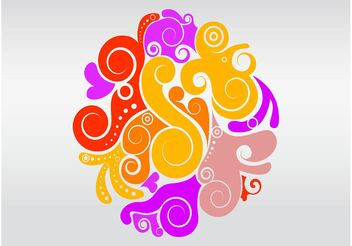 Beautiful Swirls Layout - бесплатный vector #158867