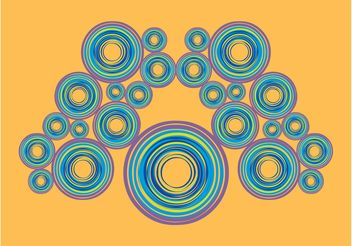Colorful Circles Layout - Kostenloses vector #158887