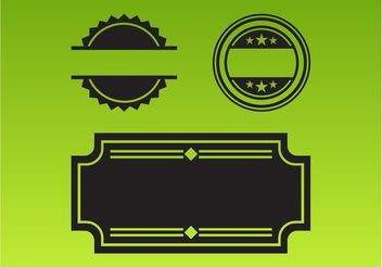 Label Templates - vector #158917 gratis