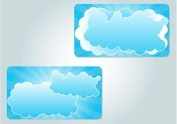 Cloud Illustrations - vector gratuit #159007